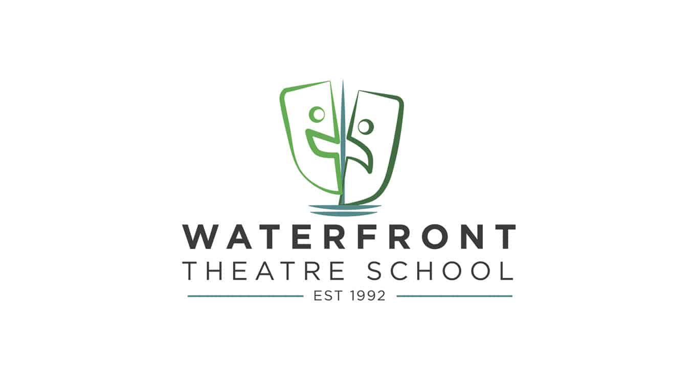 waterfront theatre school logo after image